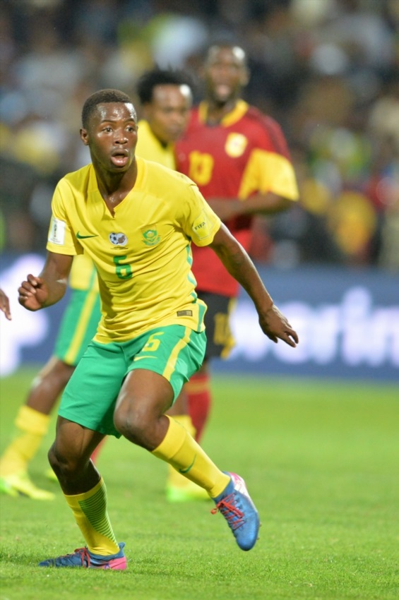 Phakamani Mahlambi during the International friendly match between South Africa and Angola at Buffalo City Stadium on March 28, 2017 in East London.