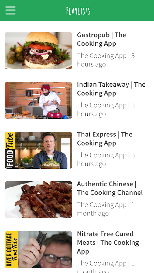 The Cooking App- screenshot