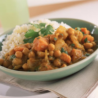 Middle Eastern Potatoes and Chick Peas.