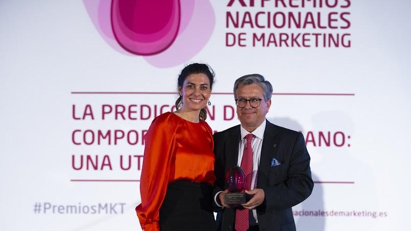 Santiago Alfonso recibe el premio en la gala celebrada en Madrid