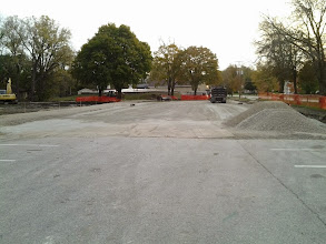 Photo: Gravel base of expanded parking lot 10-29-2013