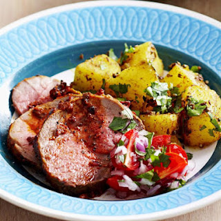 Tandoori Roast Lamb with Kachumber Salad