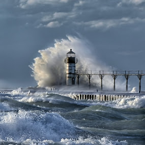 The Beacon by Charles Anderson Jr - Landscapes Waterscapes (  )