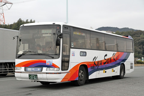 九州産交バス「ぎんなん号」 3102 高速基山にて
