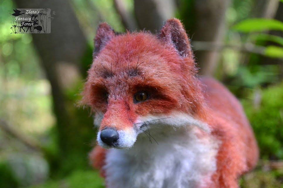 fox handmade soft sculpture