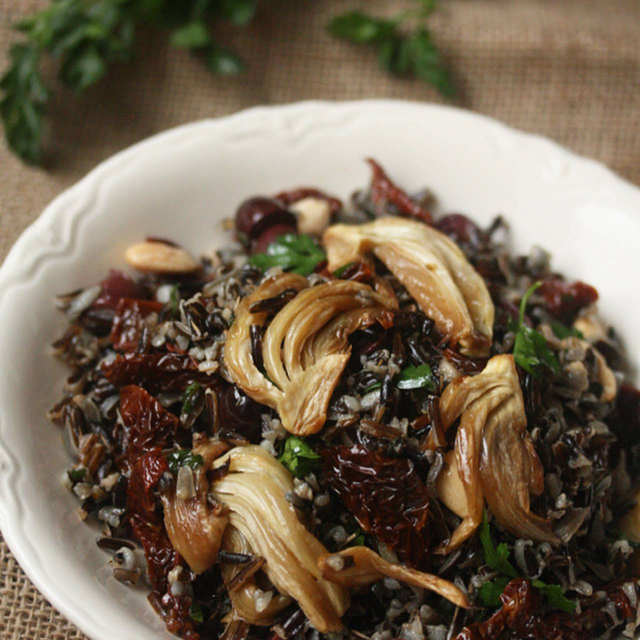 Wild Rice  similar to Roasted Fennel and Sun-Dried Tomatoes