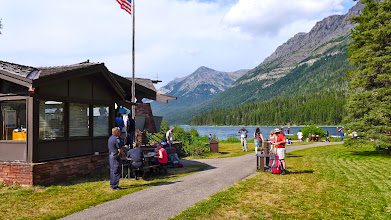 Photo: Customs agents checked our pass-ports as we got off the boat at the Goat Haunt Ranger Station (southern end of Waterton Lake).