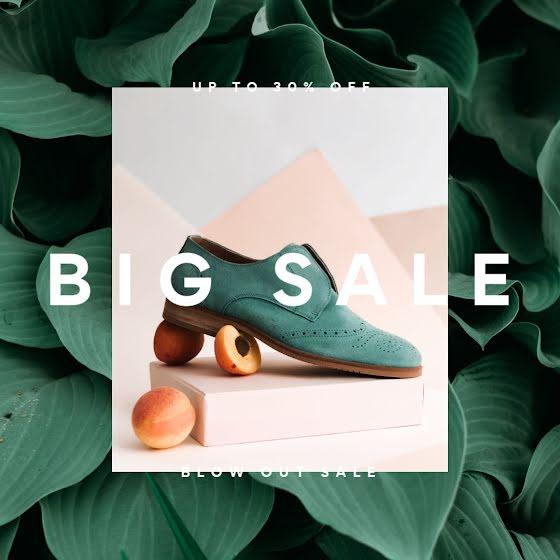 Big Shoe Sale - Instagram Post Template