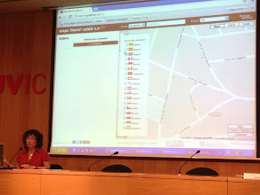 Photo: Presentació del Mapa Literari Català dins les XXVI Jornades Internacionals per a professors de català, organitzades per l'Institut Ramon Llull, a la Universitat de Vic