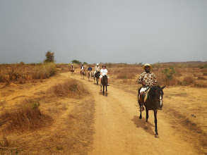 Photo: Horseback riding in the desert at Toubab Dialaw