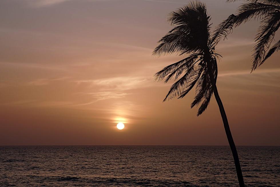 Zachód słońca w Cartagenie