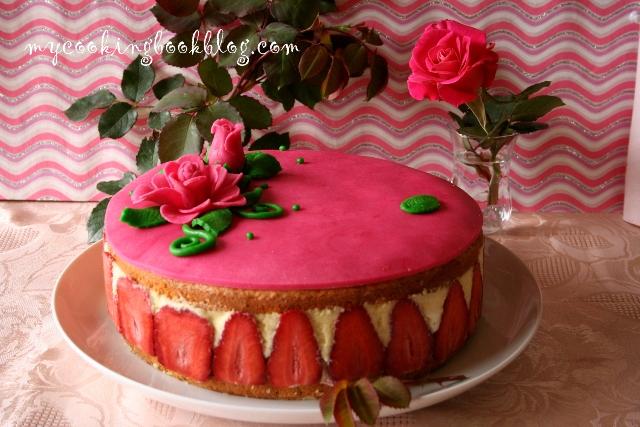 Торта Фрезие (Fraisier) или Френска торта с ягоди