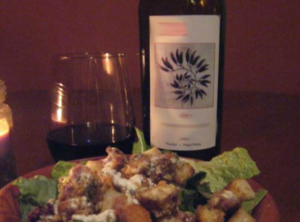 Warm Goat Cheese And Pancetta Salad With Red Wine Vinaigrette
