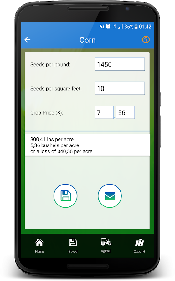 Harvest Loss Calculator- screenshot