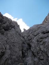 Photo: Proti koncu vstopnega kamina, dejansko zelo lepa plezarija
