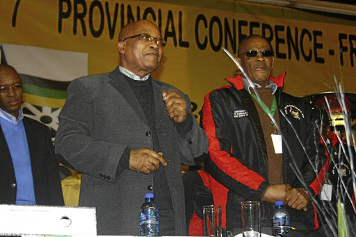 ANC secretary-general Ace Magashule, right, with former president Jacob Zuma. Picture: SIBUSISO MSIBI