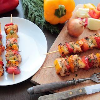 Dill Chicken & Vegetable Skewers
