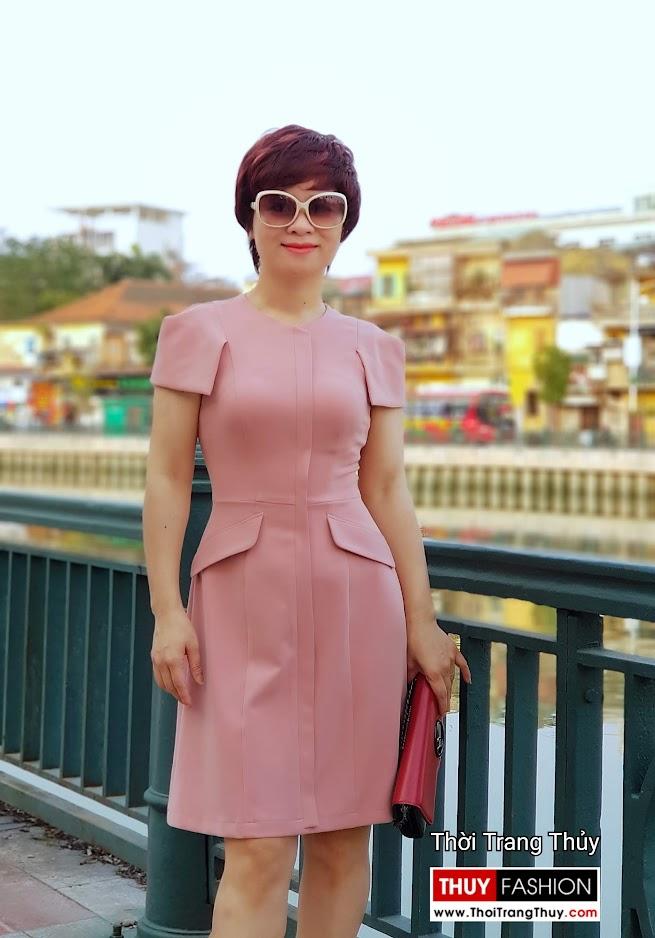 Váy xòe chữ A mặc công sở và dạo phố V700 thời trang thủy thanh hóa