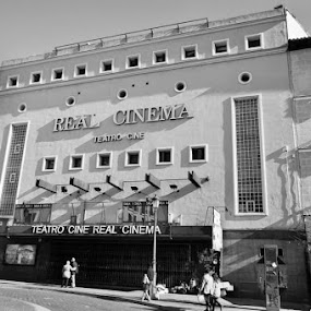 Old theatre - Madrid, Spain  by Heidi Austin - Black & White Buildings & Architecture ( black and white, madrid, spain )