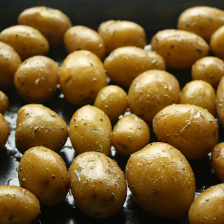 Perfectly Buttered Herb Mini Gold Potatoes.