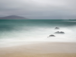 Photo: Isle of Harris, Scotland  There is no sea where I live. There's barely any lakeland that would be a bit of wilder. So walk me to a coast and I become obsessed. And I did a lot recently, on the beautiful Isle of Harris. I have been amazed by moods and colours the sea there let me see. Here is one image taken unusually midday. I enjoyed rain as never before and never after...  To see photos from Isle of Harris, click http://landandcolors.com/tag/isle-of-harris/ .  #landscapephotography