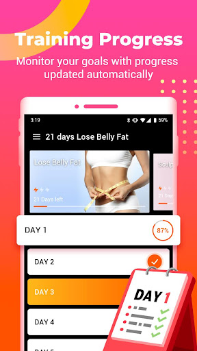 21 days Lose Belly Fat - belly fitness&burn fat