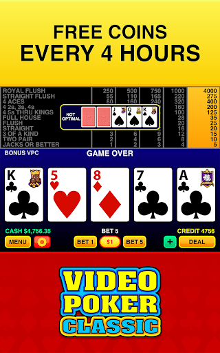 Video Poker Classic Free apktram screenshots 4