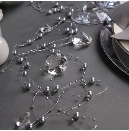 Pärlgirlanger Silver