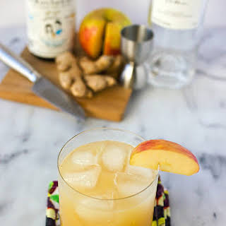 Sparkling Ginger Apple Kombucha Cocktail.