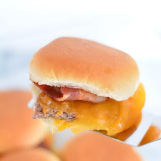 Bacon Cheddar Cheeseburger Sliders.