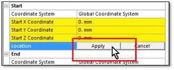 ANSYS Кнопка «Применить» (Apply), появляющаяся при нажатии на поле «Положение» (Location)