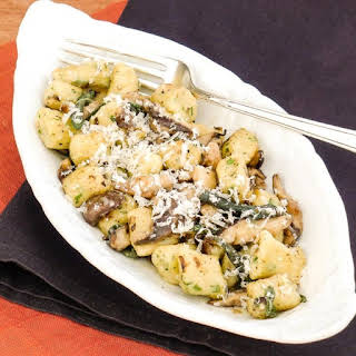 Ricotta Gnocchi with Shiitake Mushrooms in a Brown Butter and Sage Sauce.
