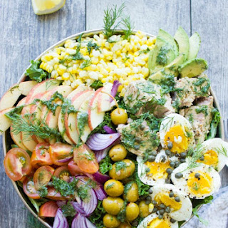 Ultimate Tuna Salad Recipe with Olive Dressing.