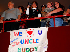 Photo: Families and friends show their support for Deploying Soldiers during the 34th Red Bull Infantry Division Departure Ceremony at Roy Wilkins Auditorium in St. Paul, Minn., Feb. 10, 2009. Photo by Pfc. Stephanie Cassinos.