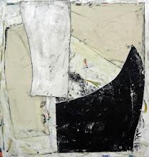 "Photo: Modest Stipend (enamel,thumbtacks and canvas on canvas) 56x53"" 2014"