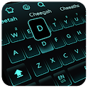 Live Neon Blue Keyboard icon