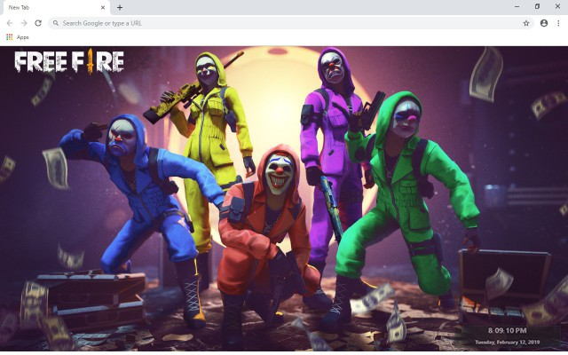 Garena Free Fire New Tab Theme