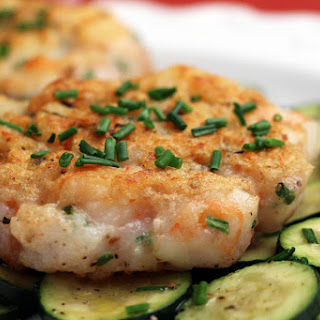Shrimp Burgers on Zucchini.