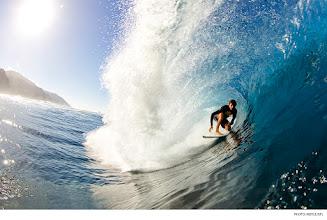 Photo: Andrew Jacobson, Tahiti. Photo: Noyle/SPL #surferphotos  #waterphotography
