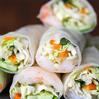 Shrimp and Veggie Summer Rolls.