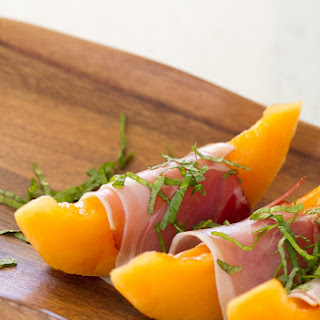 Bottoms Up | Cantaloupe and Proscuitto.