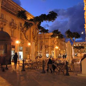 Valletta, Malta by Bill Frank - City,  Street & Park  Street Scenes