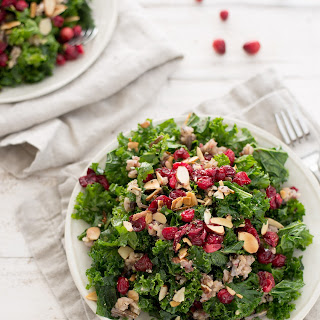 Roasted Cranberry, Wild Rice and Kale Salad Recipe