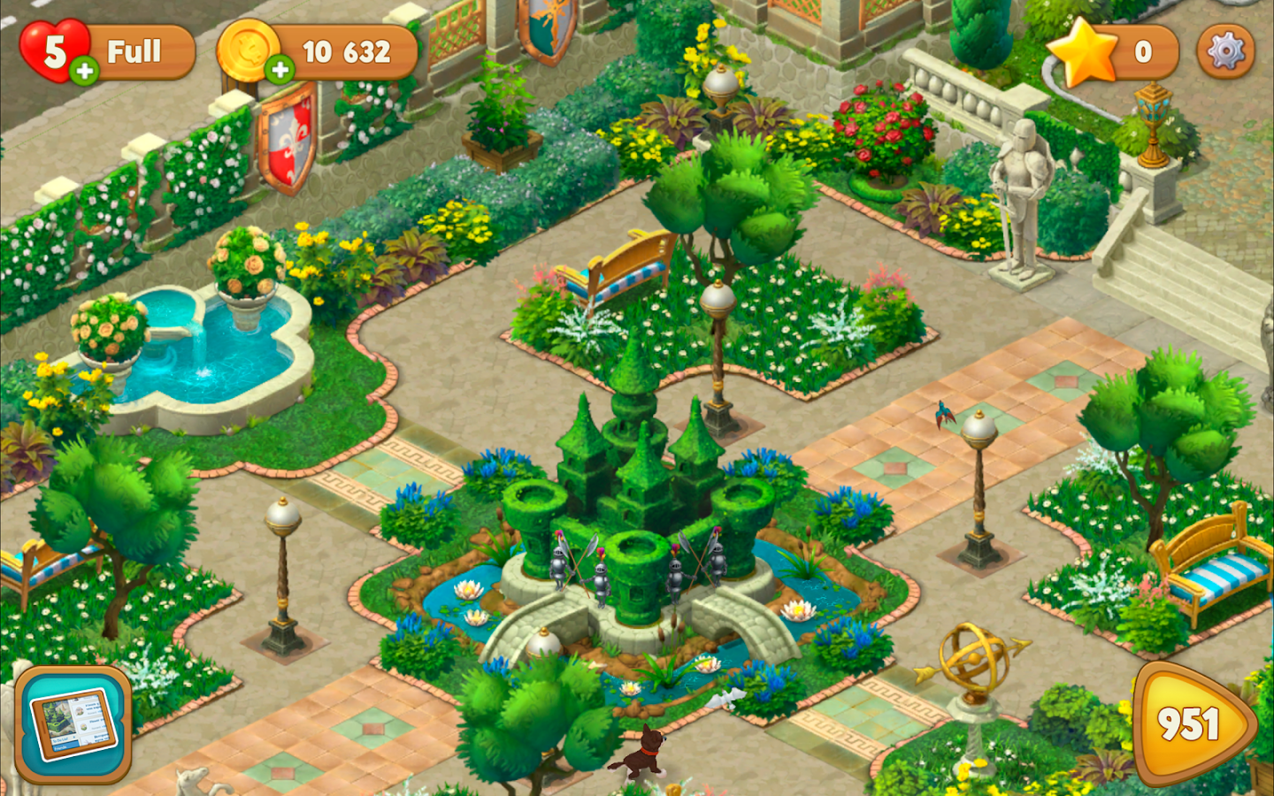 gardenscapes screenshot - Garden Design Game