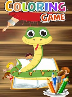 Snakes Family Cartoon Coloring - náhled