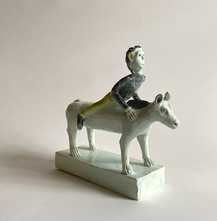 Reuben Manuel, A Man Riding an Equid.