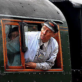 Reflect  on  past  times by Gordon Simpson - Transportation Trains