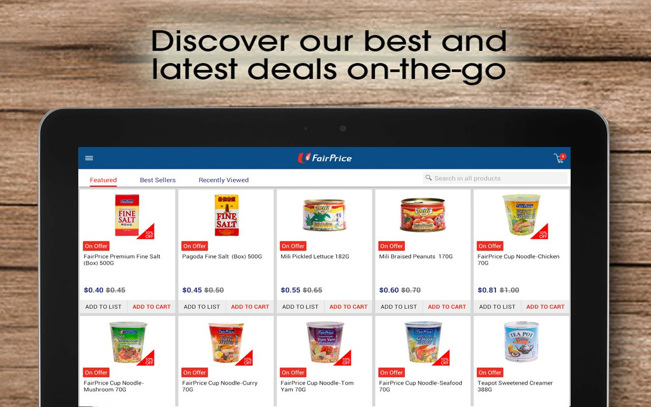 FairPrice Online- screenshot