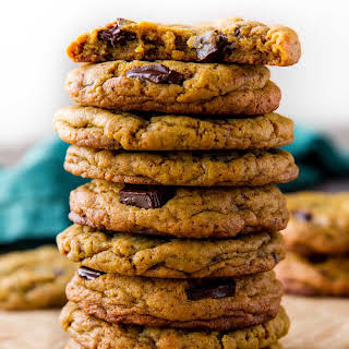 Chewy Chocolate Chip Cookies with Less Sugar.
