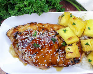 Grilled Teriyaki Ginger Chicken With Pineapples